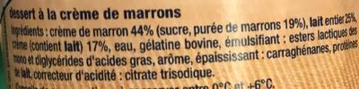 Mousse Crème Marron - Ingrédients - fr
