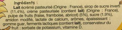 Fromage blanc en tube - Ingredients