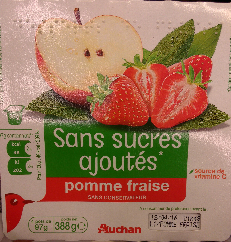 compote pomme-fraise sans sucres ajoutés - Product