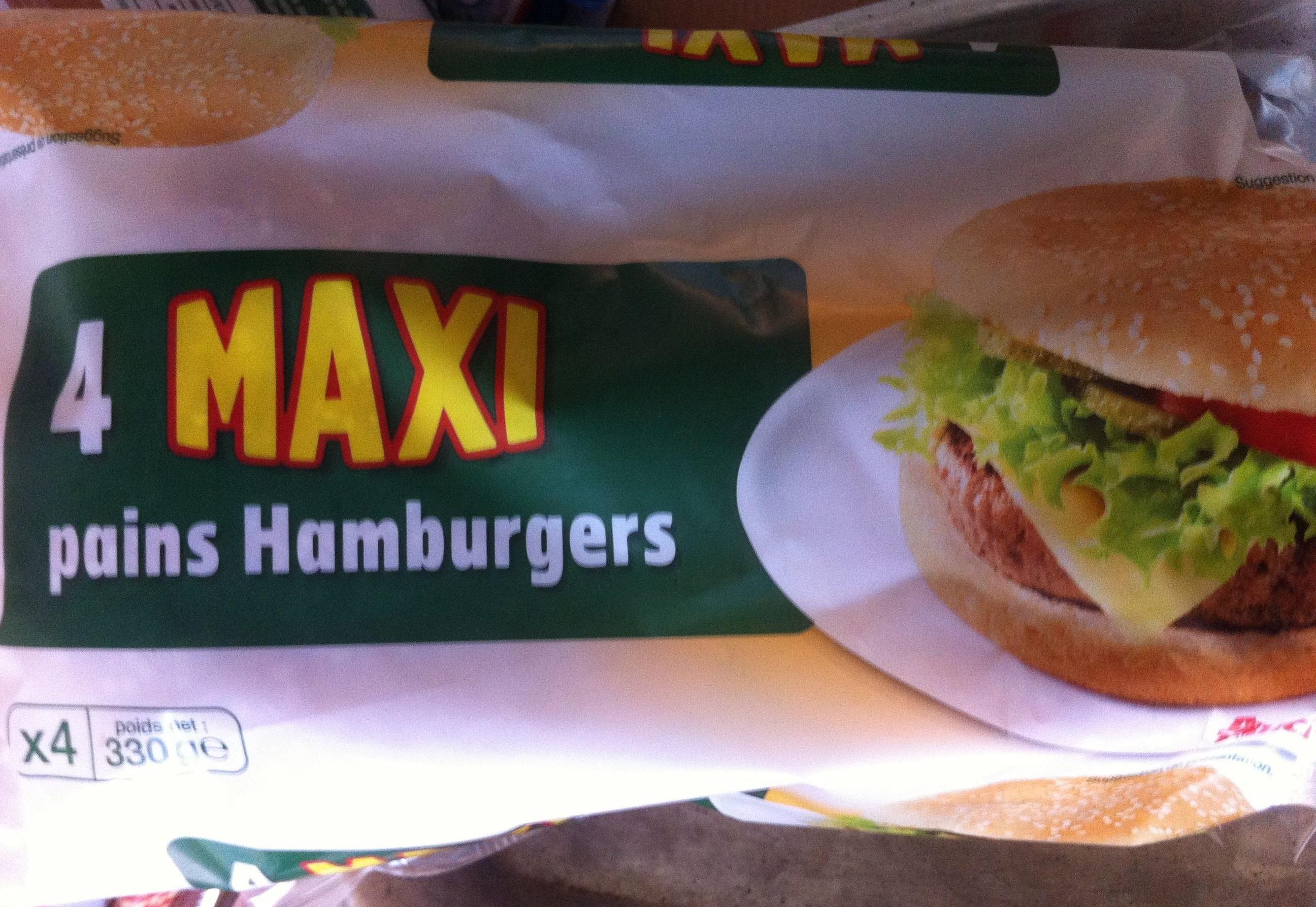 4 Maxi pains hamburger - Product