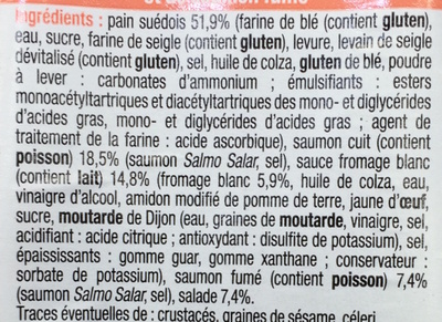 Pause Snack Duo de Saumon - Ingredients