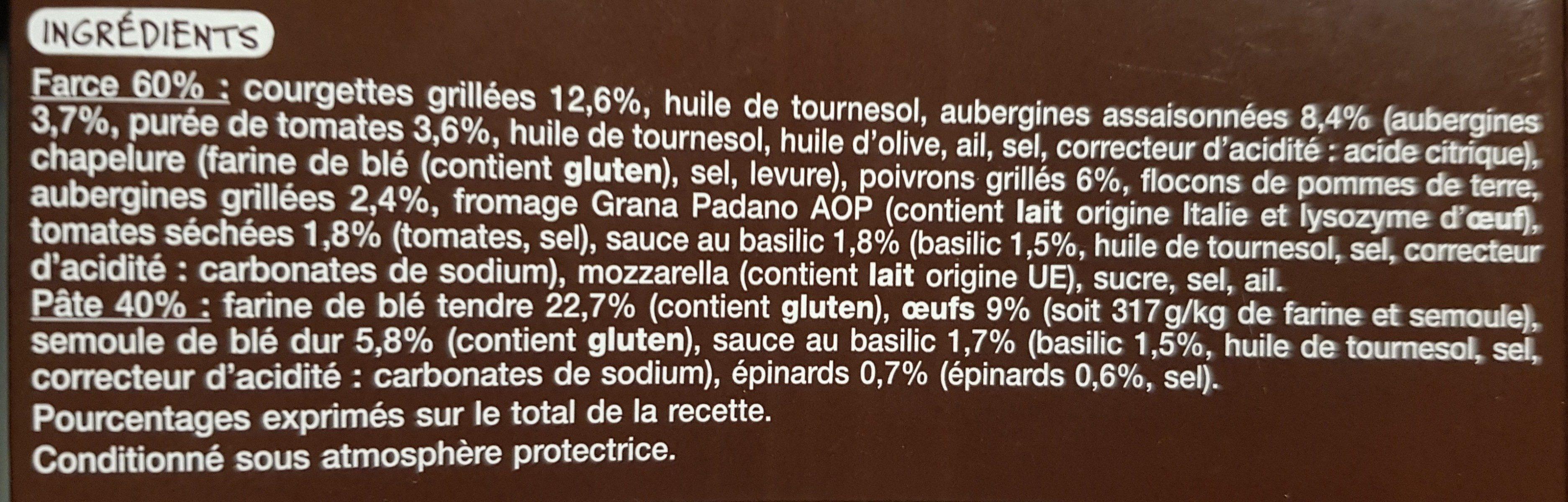 Girasoli Légumes grillés - Ingrédients - fr