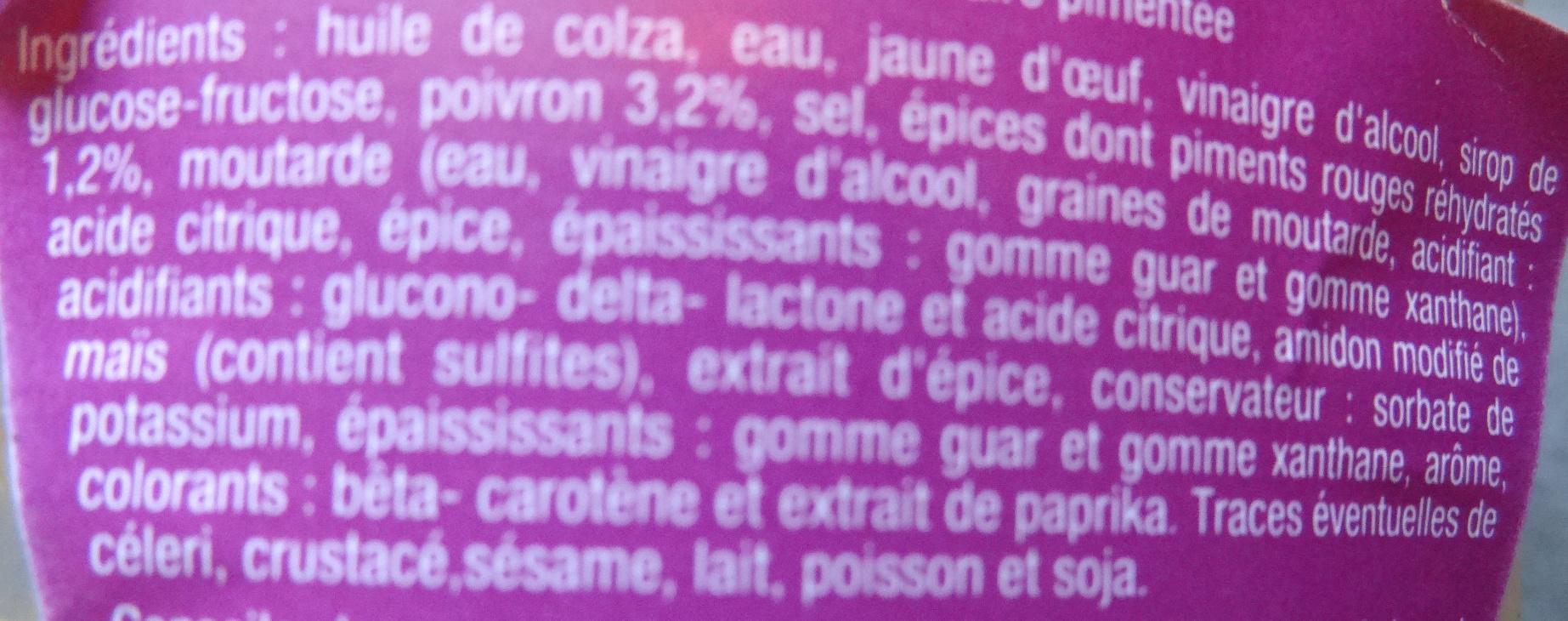 Sauce Samouraï - Ingrediënten