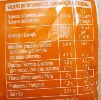 Sauce Bechamel doypack - Voedingswaarden - fr