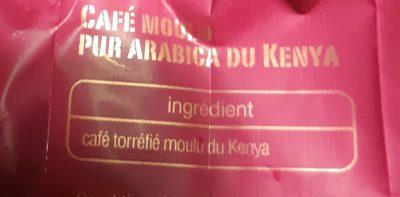 Kenya pur arabica moulu - Ingrédients - fr