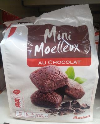 mini moelleux au chocolat auchan 210 g. Black Bedroom Furniture Sets. Home Design Ideas