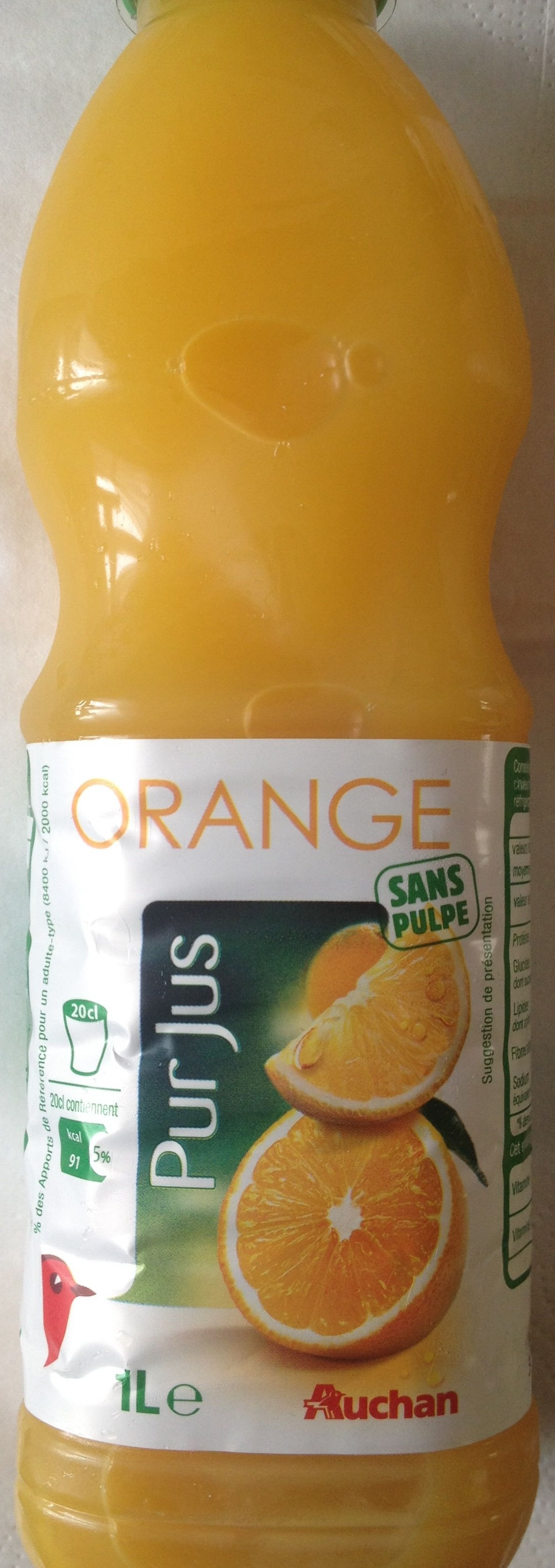 Orange, Pur Jus (Sans pulpe) - Product