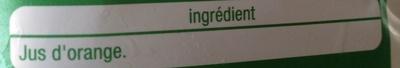 Orange, Pur Jus (Sans pulpe) - Ingredients