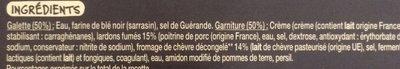 Galette au chevre et lardons x2 - Ingredients - fr