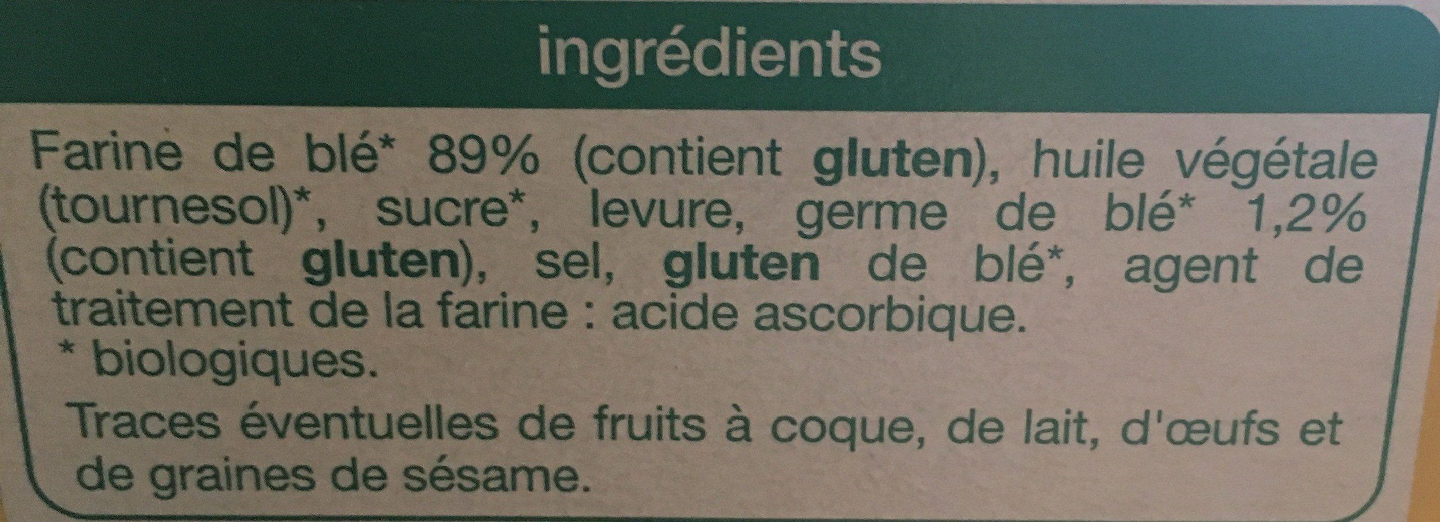 Biscottes au germe de blé - Ingrédients