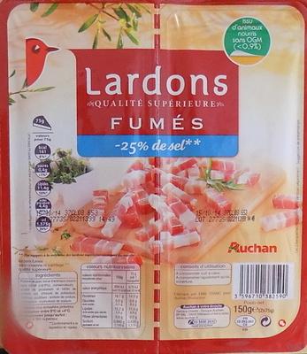 Lardons Fumés (-25 % de sel) - Product - fr