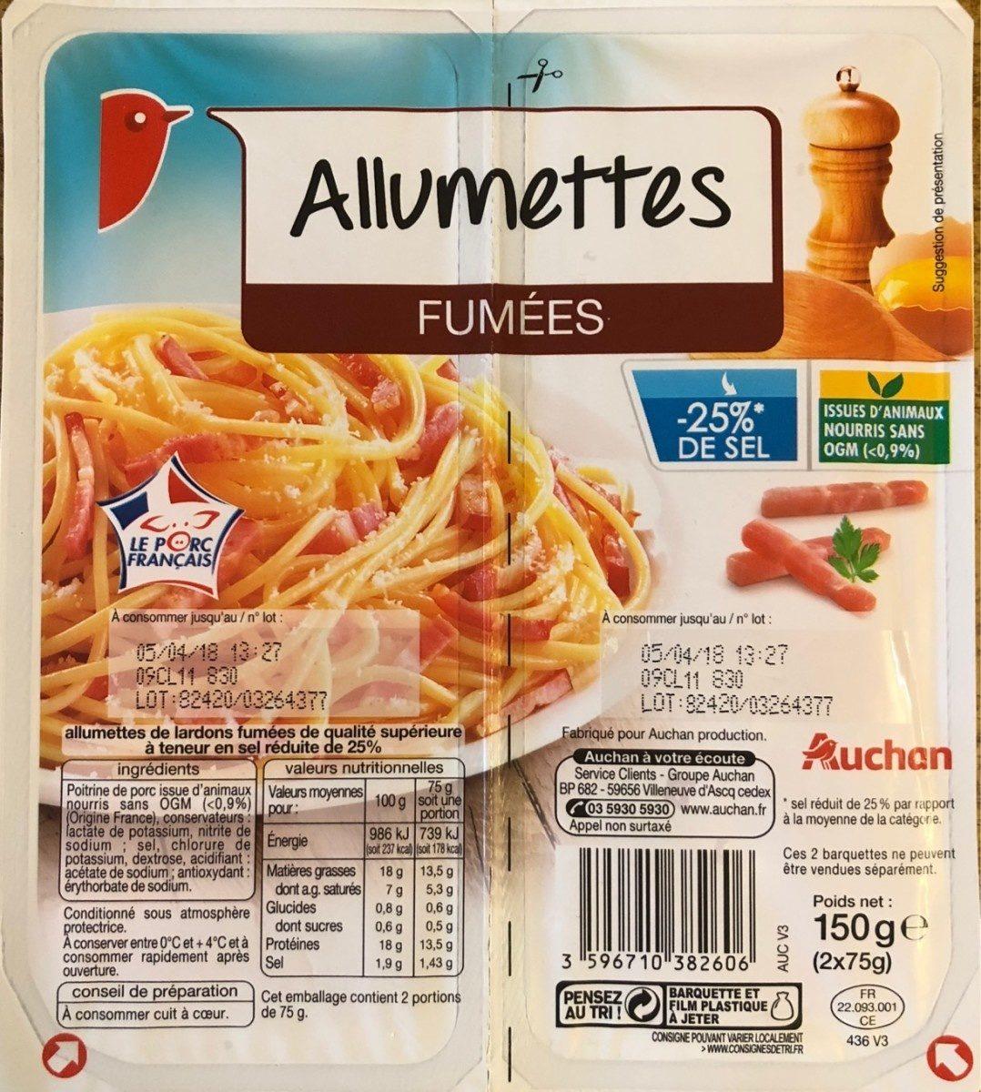 Allumettes Fumées (-25 % de sel) - Product - fr