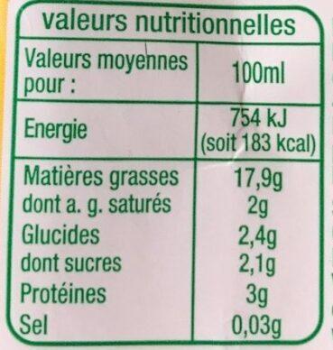 Soja Spécial Cuisine - Voedigswaarden