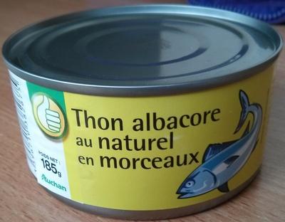 Thon albacore au naturel en morceaux - Pouce (Auchan) - Produit - fr