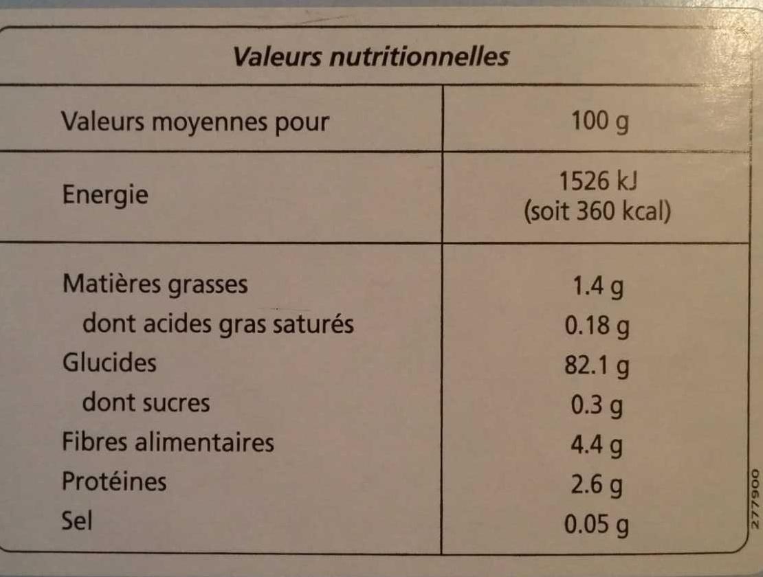 Préparation pour pâtisseries - Nutrition facts - fr