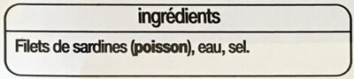 Filets de sardines au naturel - Ingredients - fr