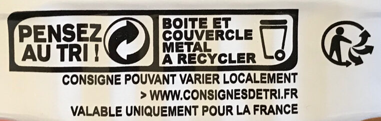 Filets de sardines au naturel - Recycling instructions and/or packaging information - fr