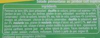 Piémontaise au jambon - Ingrédients - fr