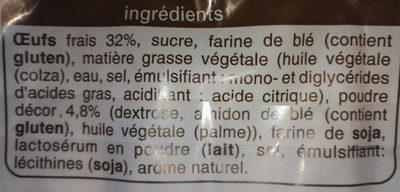 Gaufres Poudrées aux Œufs Frais - Ingrédients