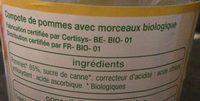 Compote de Pomme avec Morceaux - Ingrediënten