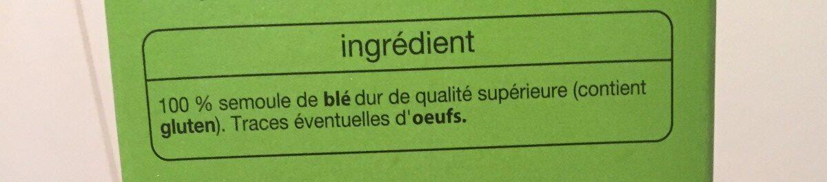 Cannelloni - Ingrédients