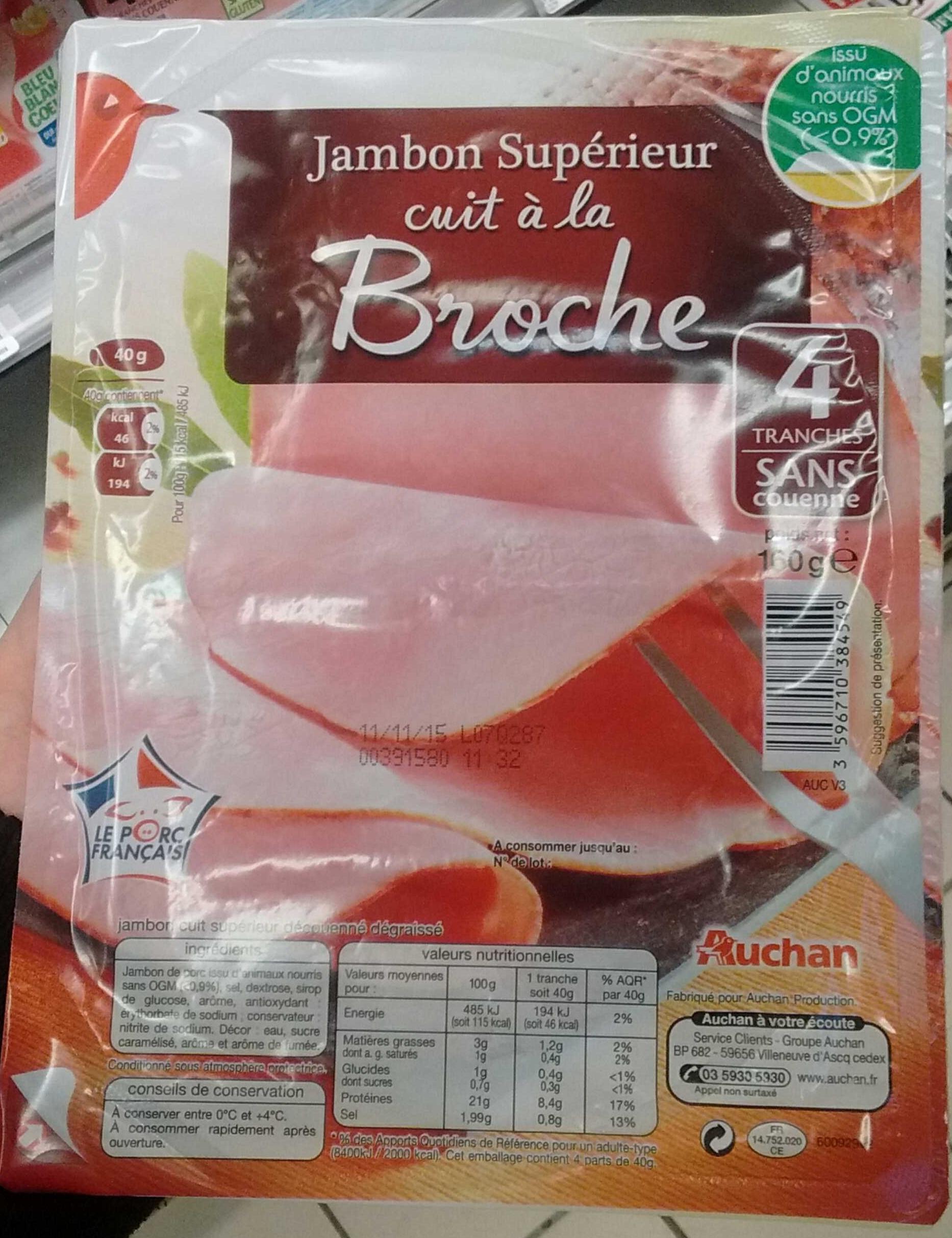 Jambon supérieur cuit à la broche - Product