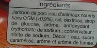 Jambon supérieur cuit à la broche - Ingredients