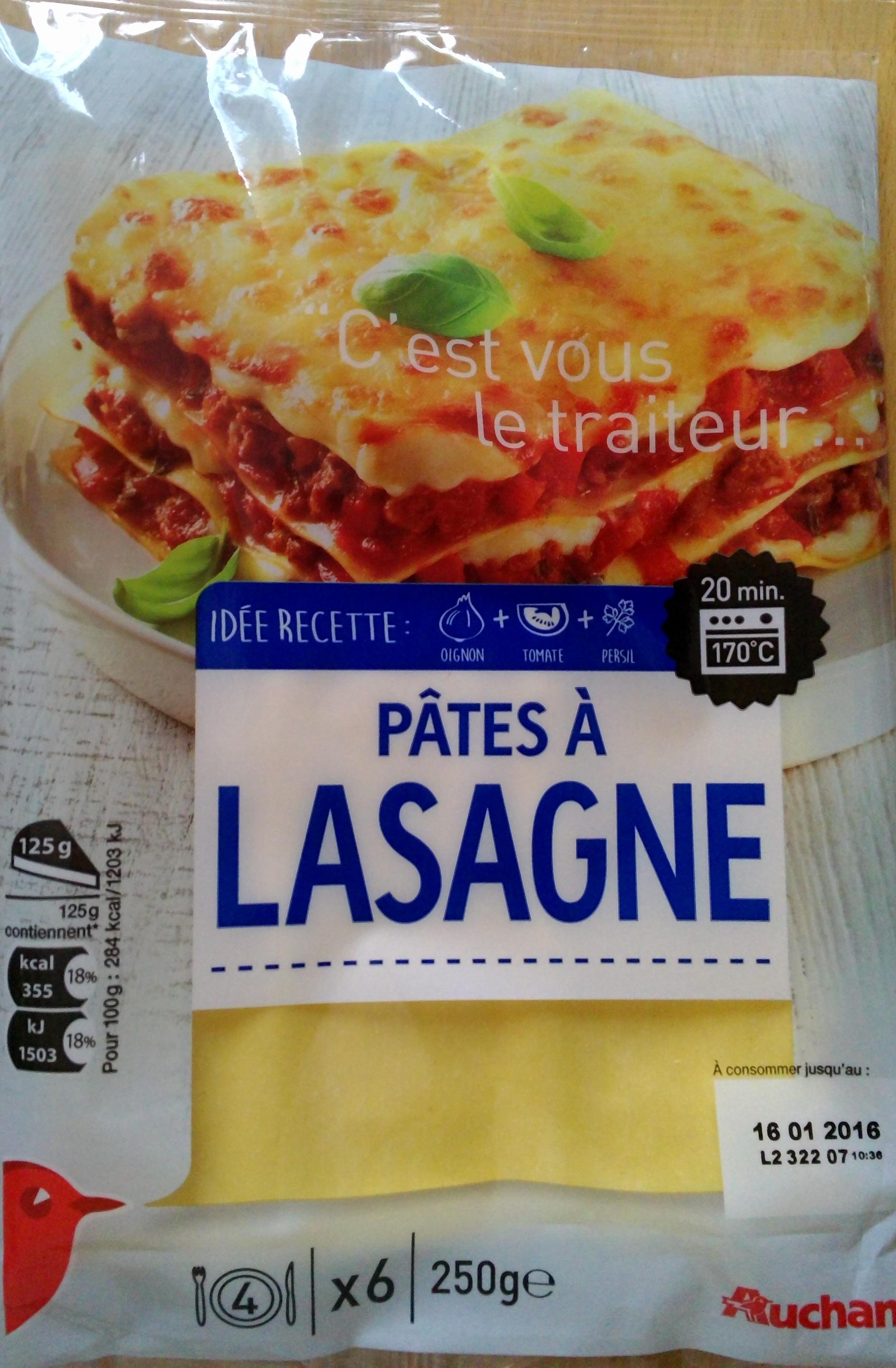 Lasagne Idee Recette.Pates A Lasagne Auchan 250g