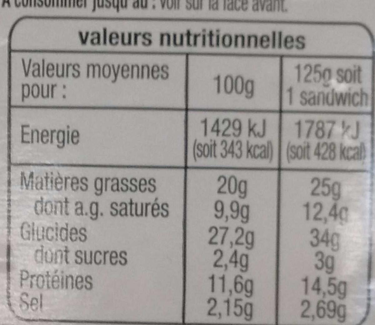 Pause Snack Rosette - Informations nutritionnelles - fr