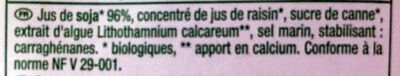 Boisson au Soja - Ingrédients
