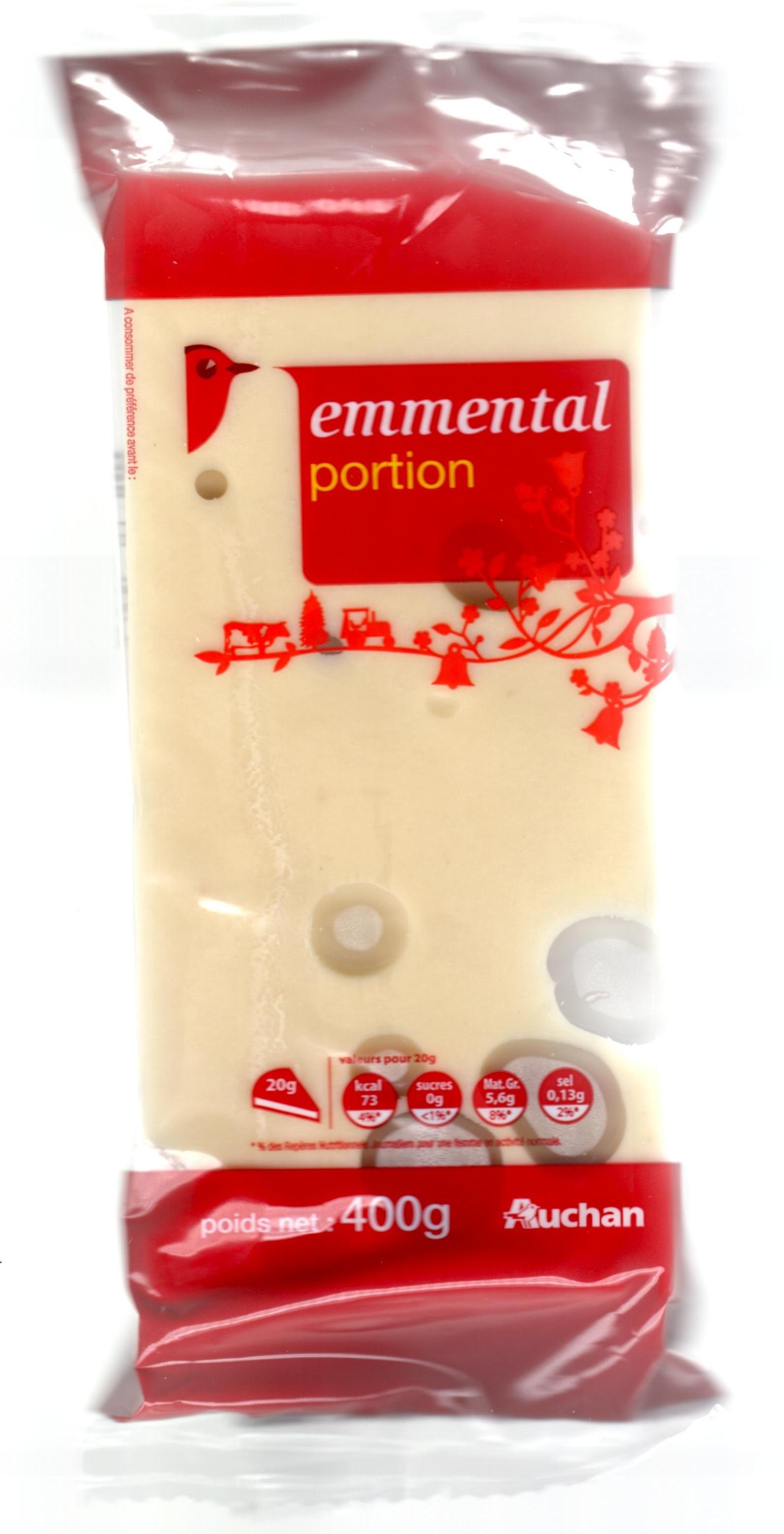 Emmental portion (28 % MG) - Produit - fr