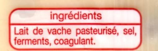 Emmental portion (28 % MG) - Ingrédients - fr
