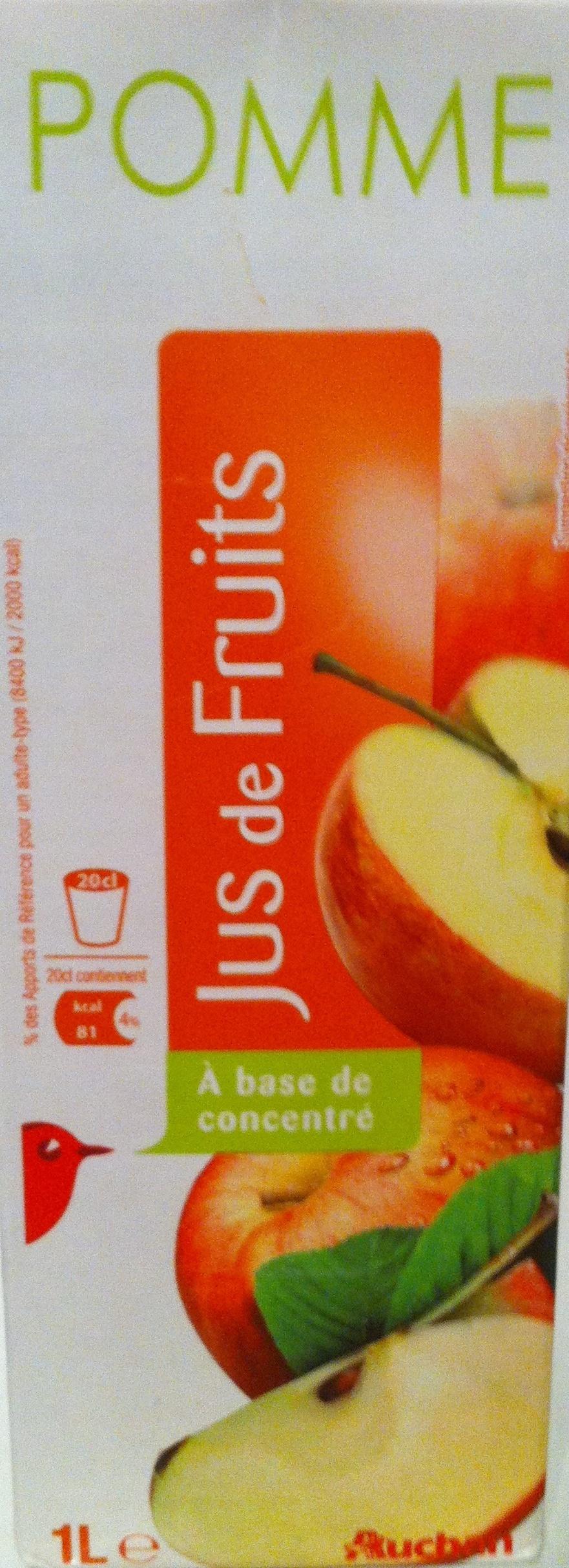 Jus de pomme à base de concentré - Product