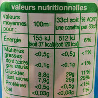 Auchan-tropical Fruit Drink-330ml-france - Nutrition facts - fr