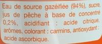 Diabolo Pêche à l'eau de source - Ingredients - fr