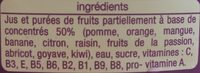 Instant gourmand exotique - Ingredients