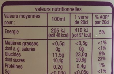 Instant gourmand exotique - Nutrition facts