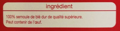 Cannelloni Nature - Ingrédients