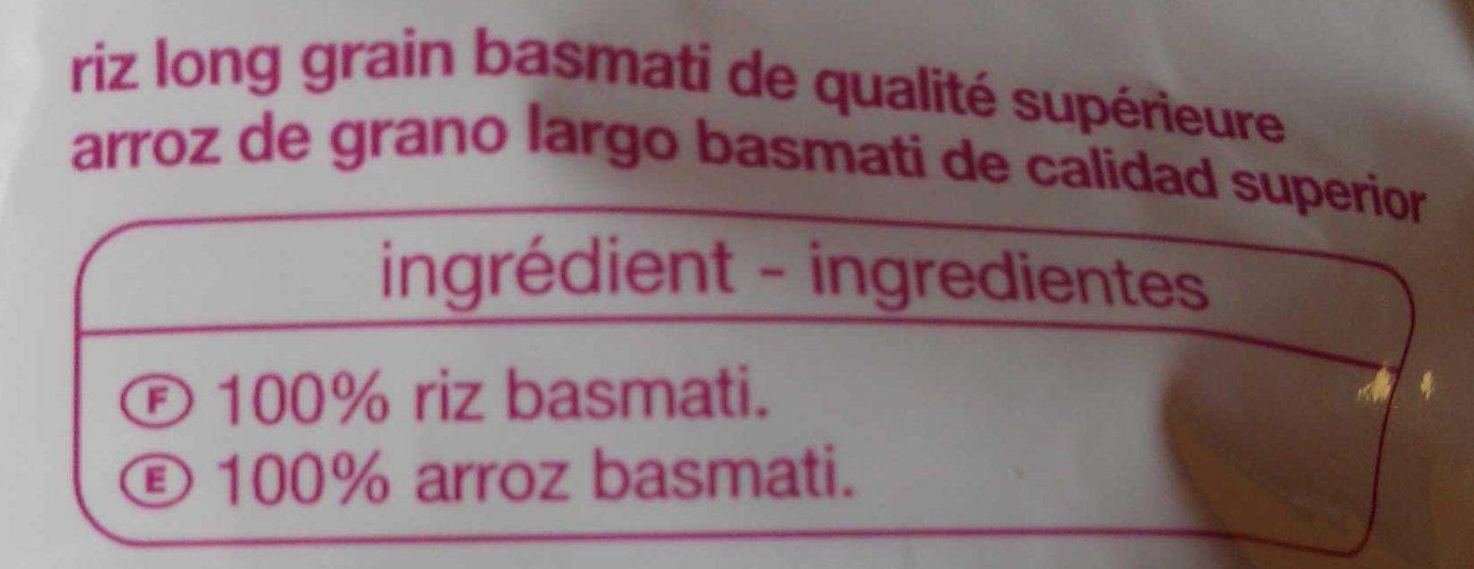 Riz basmati - Ingredientes - es