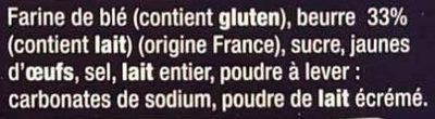 6 palets bretons - Ingrediënten