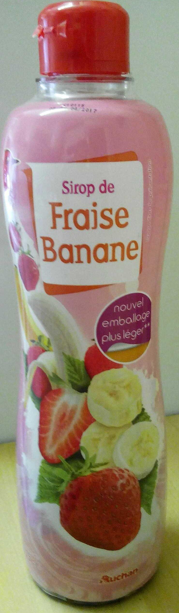 Sirop de fraise banane - Product - fr