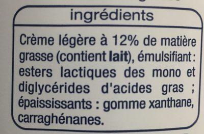 Creme Fleurette Légère - Ingrédients - fr