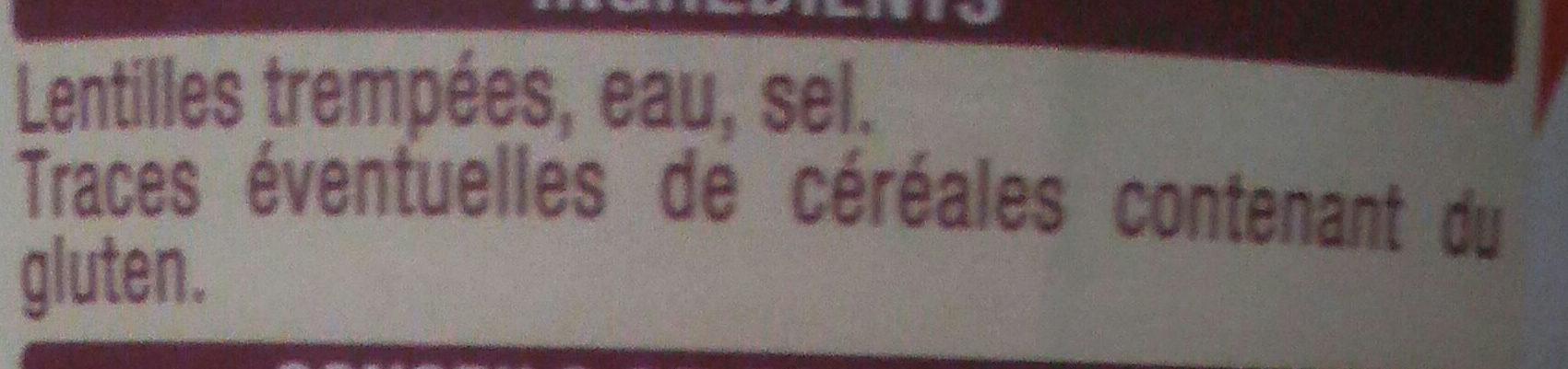 Lentilles - Ingrédients - fr