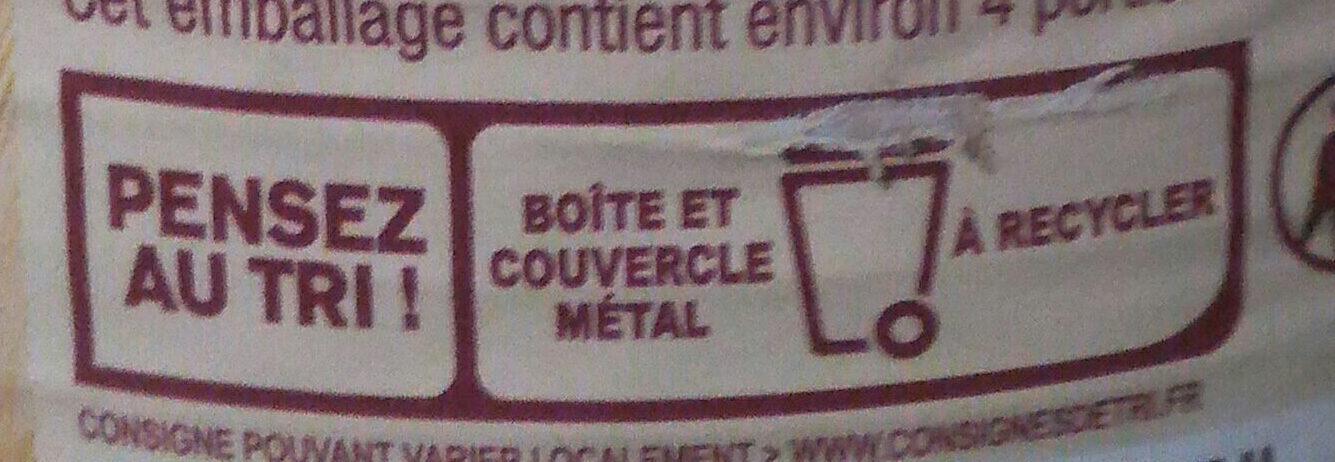 Lentilles - Instruction de recyclage et/ou informations d'emballage - fr