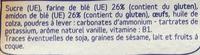 Biscuits tendres - Ingredients