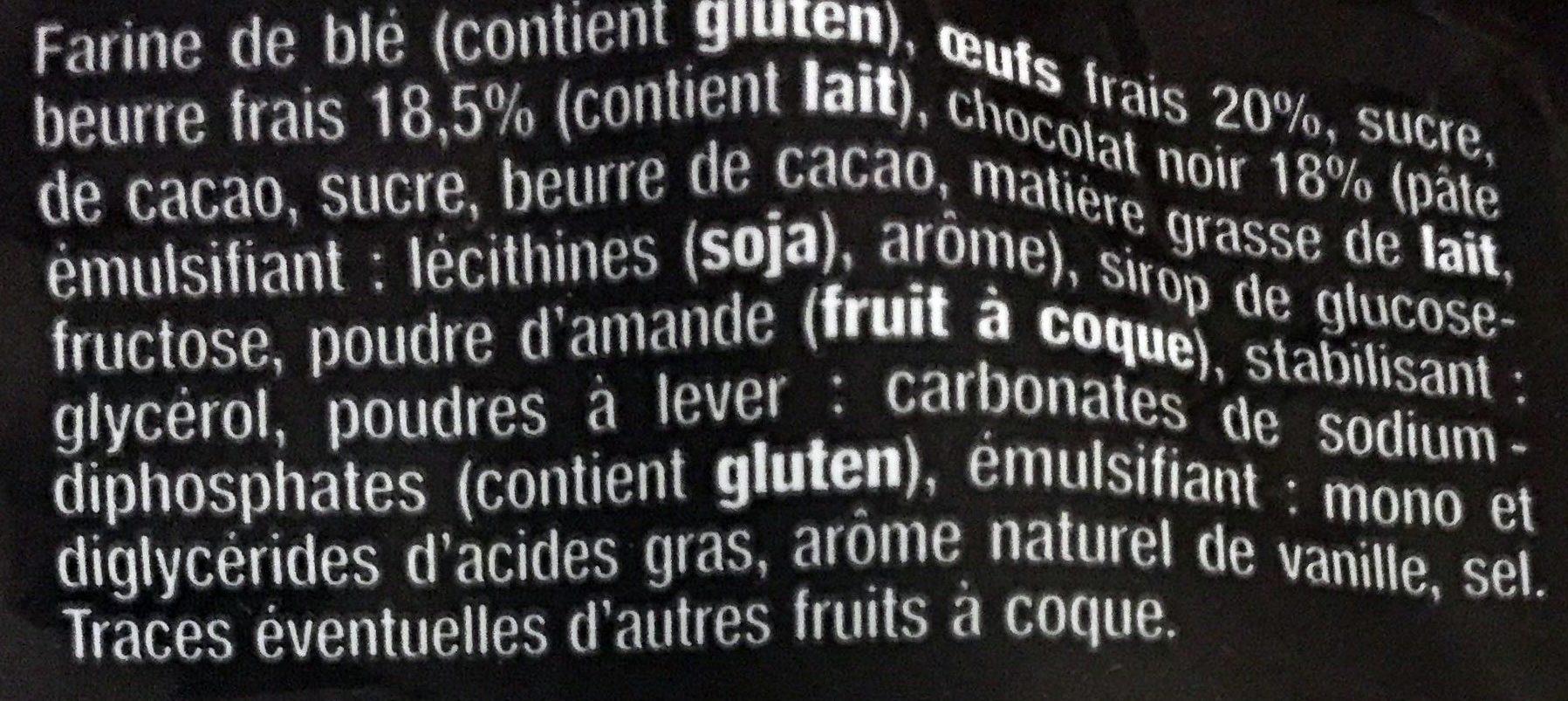 Madeleines Pur Beurre Nappés Chocolat Noir - Ingrediënten
