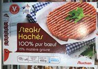 Steaks hachés 15% MG - Produit