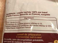 Viande hachée de boeuf - Ingrédients - fr