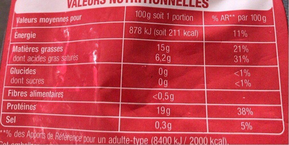Viande hachée de boeuf - Informations nutritionnelles - fr