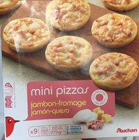 Mini pizza jambon fromage x9 - Product - fr